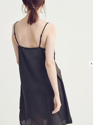 DESERT DAZE LACE SLIP DRESS GREY