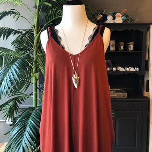 GRACE SOLID MAXI DRESS RUST