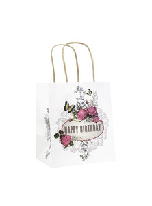 MINI GIFT BAG, BIRTHDAY ROSES