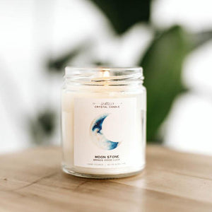 JaxKelly - Moonstone Crystal Candle
