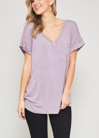 DARIA V NECK PURPLE