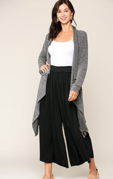 LILLIAN WIDE LEG GAUCHO PANTS