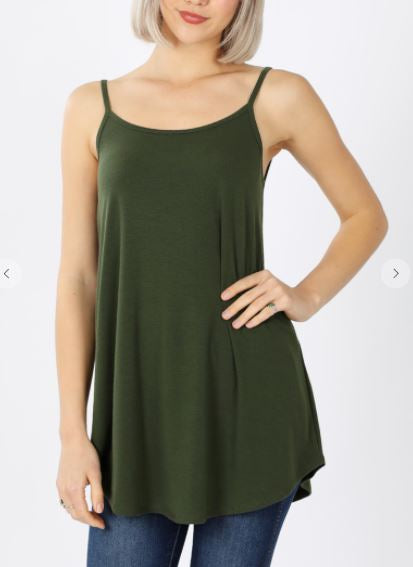 STRAIGHT UP SOLID CAMI GREEN