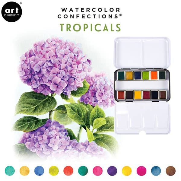 WATERCOLOR TROPICAL PALETTE