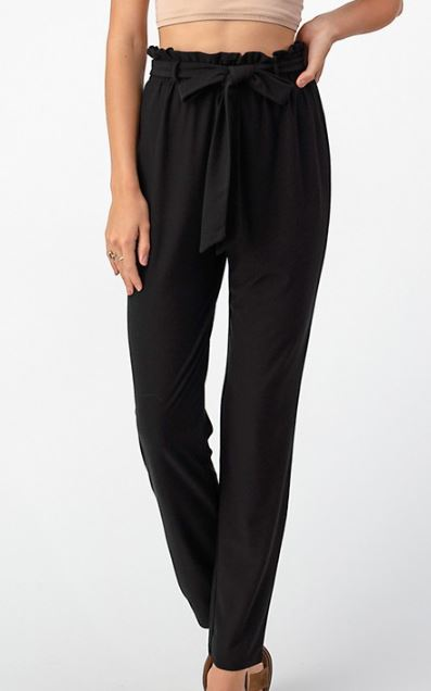 SEMI SWEET TIE FRONT PANTS