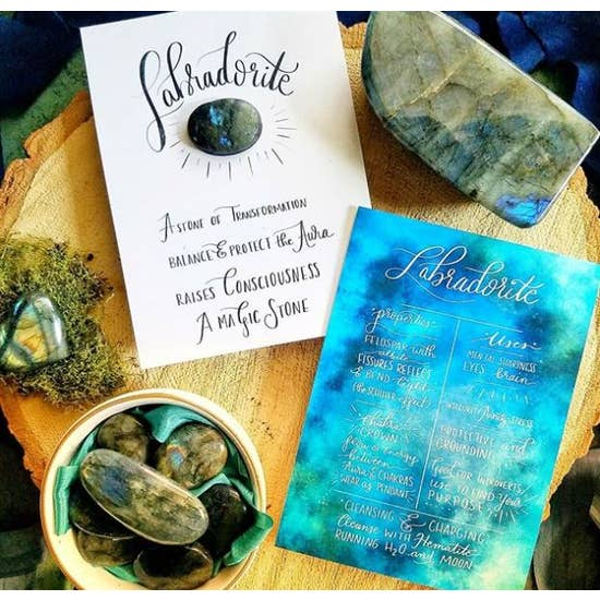 LABRADORITE STONE WITH INFO CARD