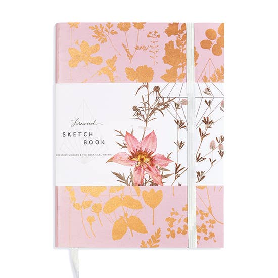 Faux Leather Copper Sketchbook- Pink Shine