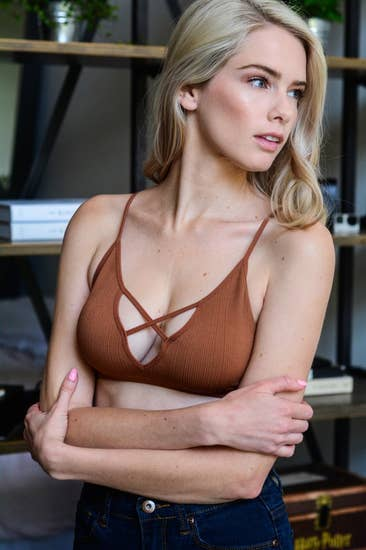CARRIE CROSS BRALETTE COPPER