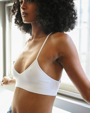 BLOOM TATTOO BRALETTE WHITE