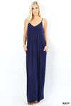 GRACE SOLID MAXI DRESS NAVY