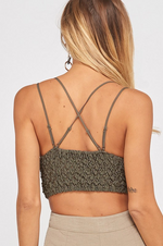AXEL LACE STRAPPY BRALETTE OLIVE-