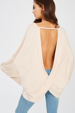 VERA OPEN BACK TUNIC TAUPE-