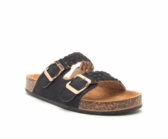 DANI BRAIDED SANDEL BLACK