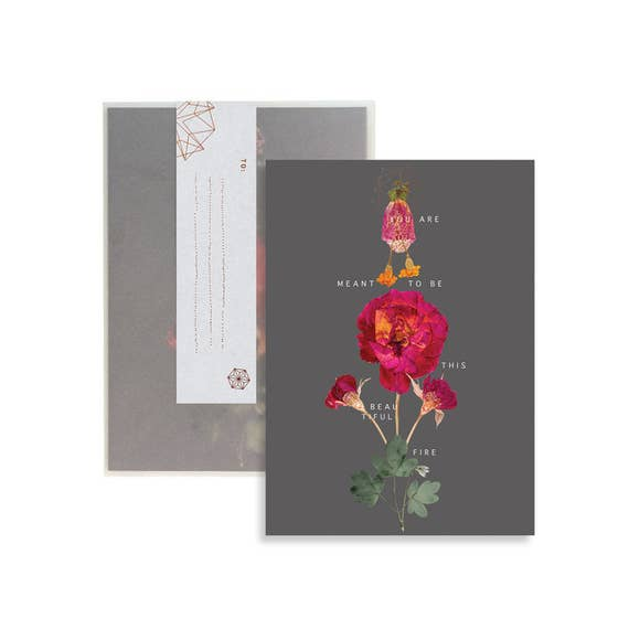 C3 - Greeting Card - Floral Fire