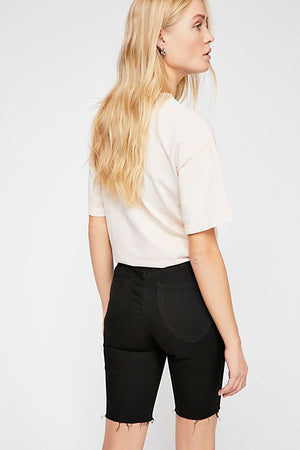 FREE PEOPLE DENIM SHORTS BLACK