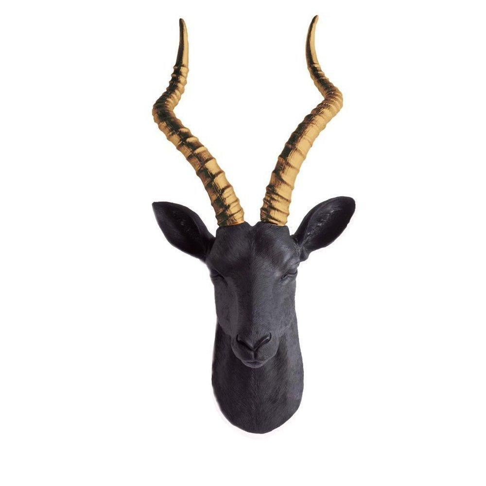 Wall Charmers - The Maasai Large Antelope Gazelle Head  Dual Color