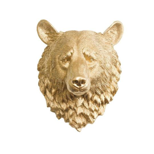 Wall Charmers - The Kodiak Large Bear Head Faux Taxidermy Single Color