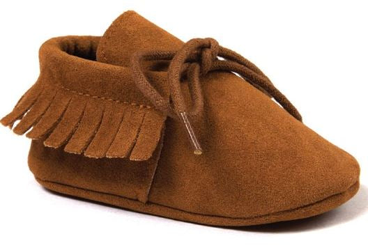 BABY MOCCASINS BROWN