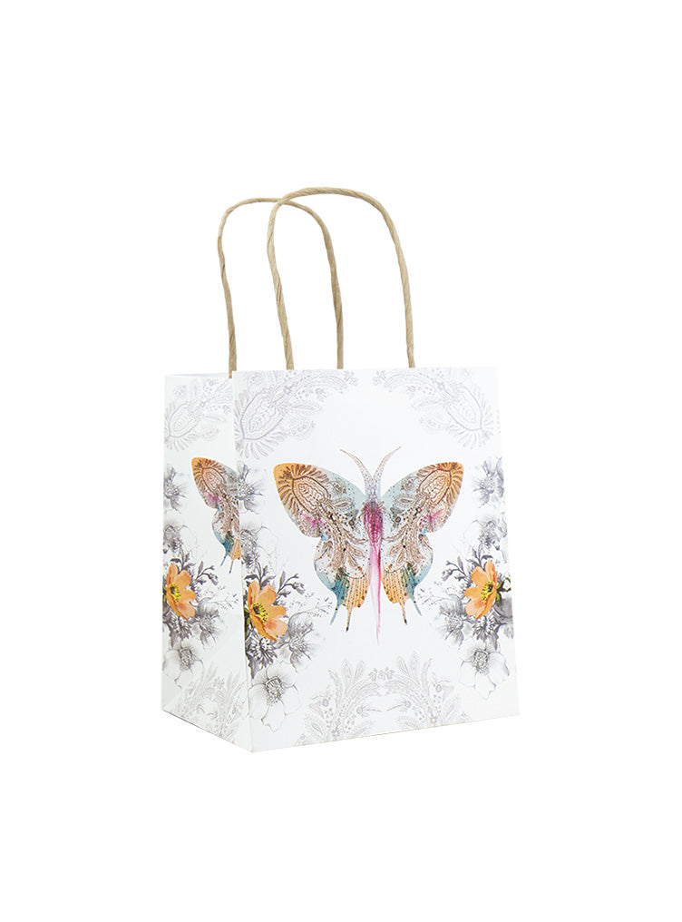 MINI GIFT BAG, PAISLEY BUTTERFLY