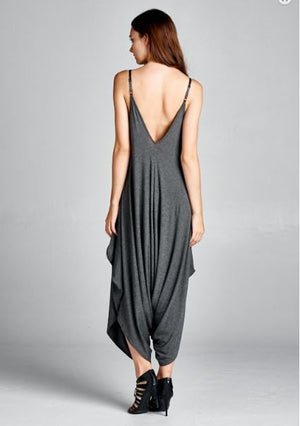 KIMMIE SOLID JUMPSUIT CHARCOAL