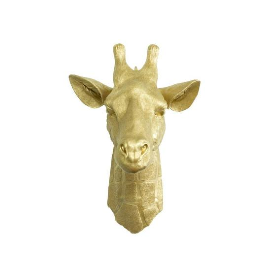 Wall Charmers - The Zimbabwe Large Giraffe Head Faux Taxidermy Single Color