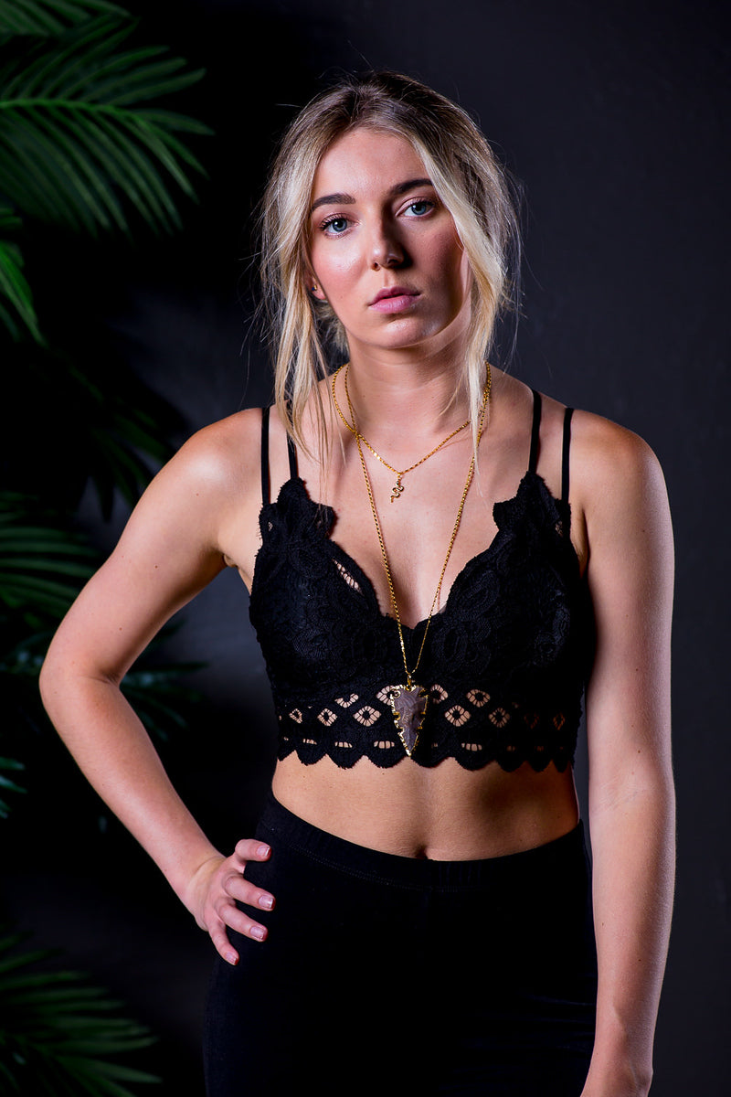 AXEL LACE BRALETTE BLACK-