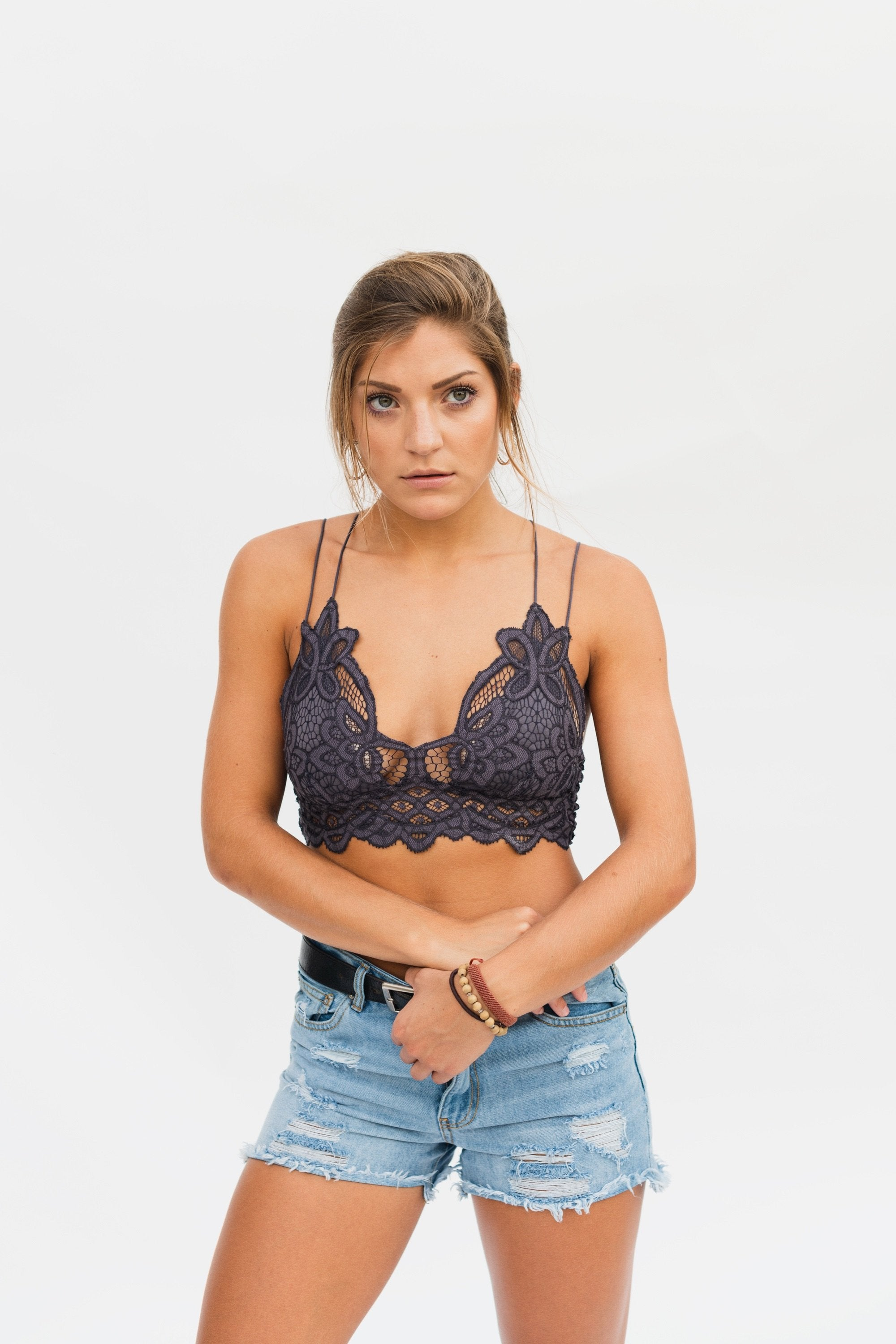FREE PEOPLE ADELLA BRALETTE GREY-