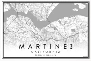 MARTINEZ MAP PRINTS- LARGE