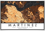 MARTINEZ MAP PRINTS- MEDIUM