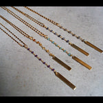 GOLD ROSARY GEMSTONE NECKLACES