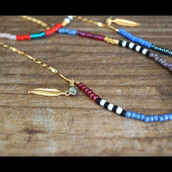 GOLD BEADED PYRITE NECKLACES