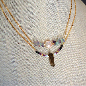 SMOKEY QUARTZ BEADED NECKLACES