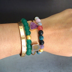MIXED GEMSTONE DIFFUSER BRACELETS