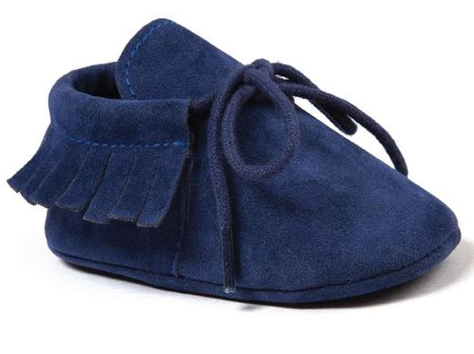 BABY MOCCASINS NAVY