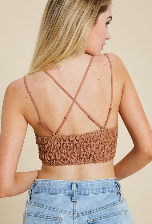 AXEL LACE STRAPPY BRALETTE GINGER