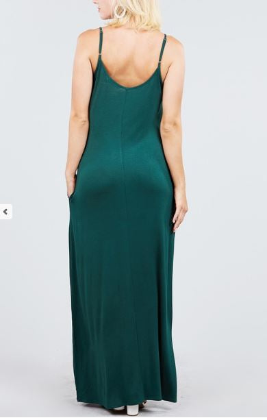 MACIE POCKET MAXI DRESS GREEN