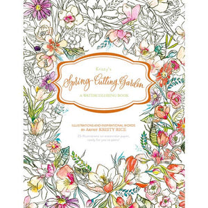 Kristy's Spring Cutting Garden : A Watercoloring Book