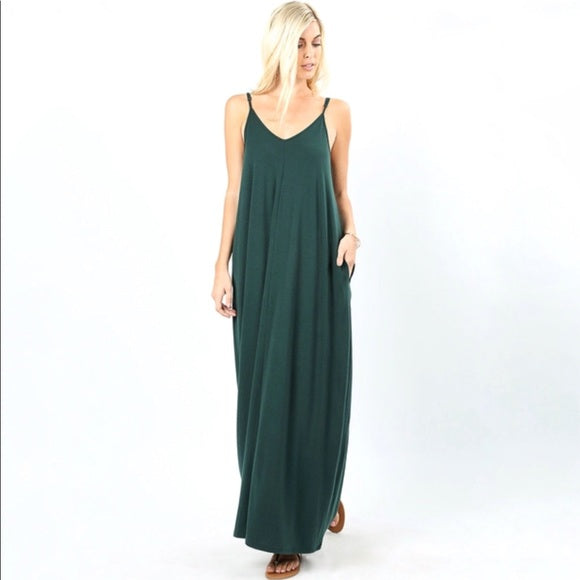 GRACE MAXI DRESS TEAL