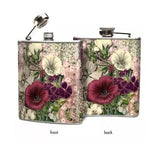 Oso + Bean - Pink Flowers Hip Flask