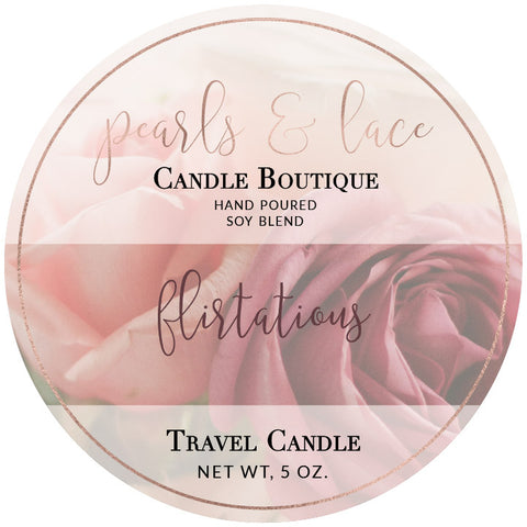 Flirtatious Travel Candle-Travel Candle-Pearls & Lace Candle Boutique