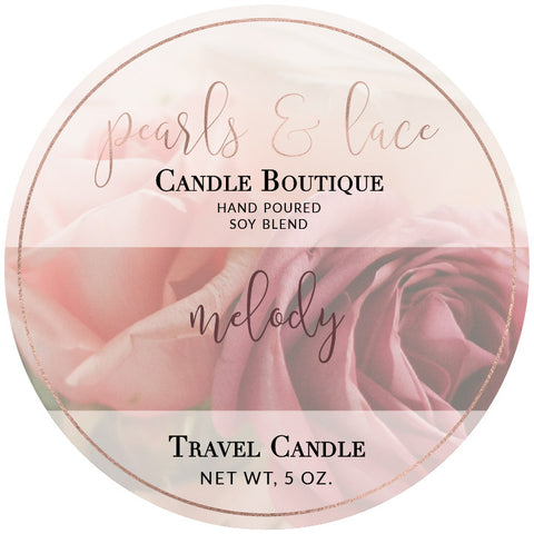 Melody Travel Candle-Travel Candle-Pearls & Lace Candle Boutique