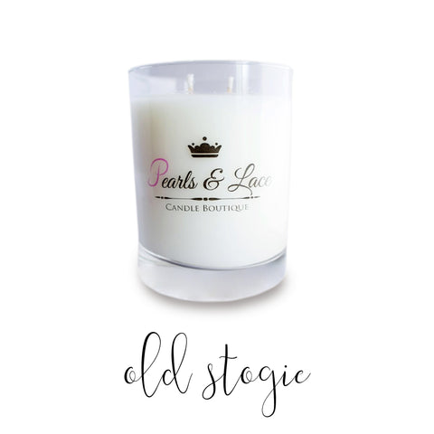Old Stogie 10oz Luxe Candle-Luxe Candles-Pearls & Lace Candle Boutique