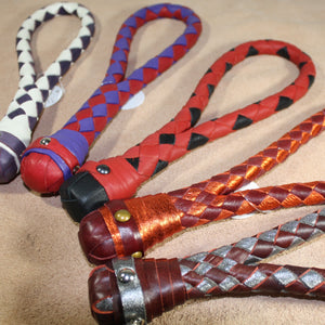 Braided Loop Cable Slapper  - Braided Leather paddle