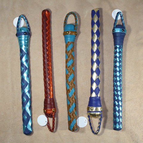 BraidJack!  -- Braided Leather Thumper - Braided Leather Paddle
