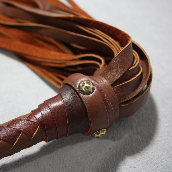 Leather Flogger - Custom to order