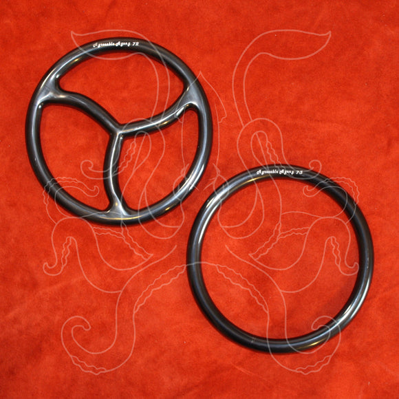 Black Titanium Bonded Steel Suspension Rings – 6