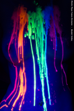 Blacklight Rainbow in a Jar Wax Play Candle - Low Temp - Unscented - UV Reactive Pitcher Candle