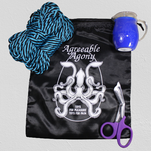 Hot Wax & Bondage Rope Starter Kit – Pitcher Candle & MFP Rope with Storage bag