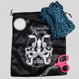 Bondage and Wax Beginner Kit - Rope & Mini Candle with Storage Bag and Safety Shears