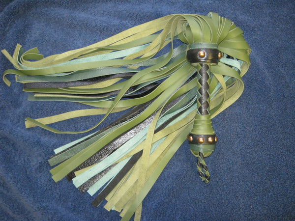 Leather Flogger - Custom to order - Agreeable Agony - 4